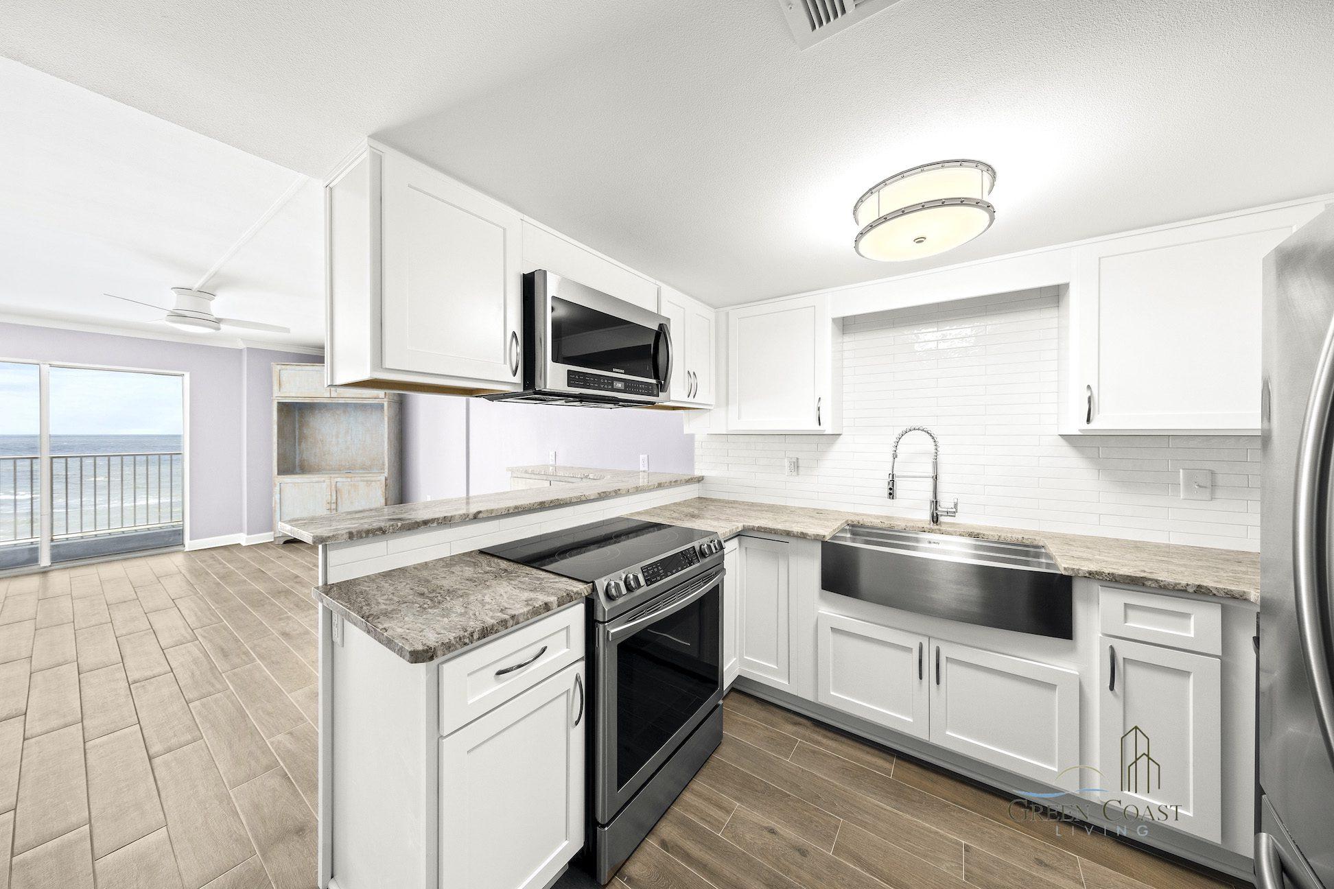 Green Coast Living - kitchen renovation.